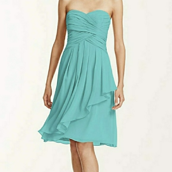 001090e169 David s Bridal Dresses   Skirts - David s Bridal short crinkle chiffon dress